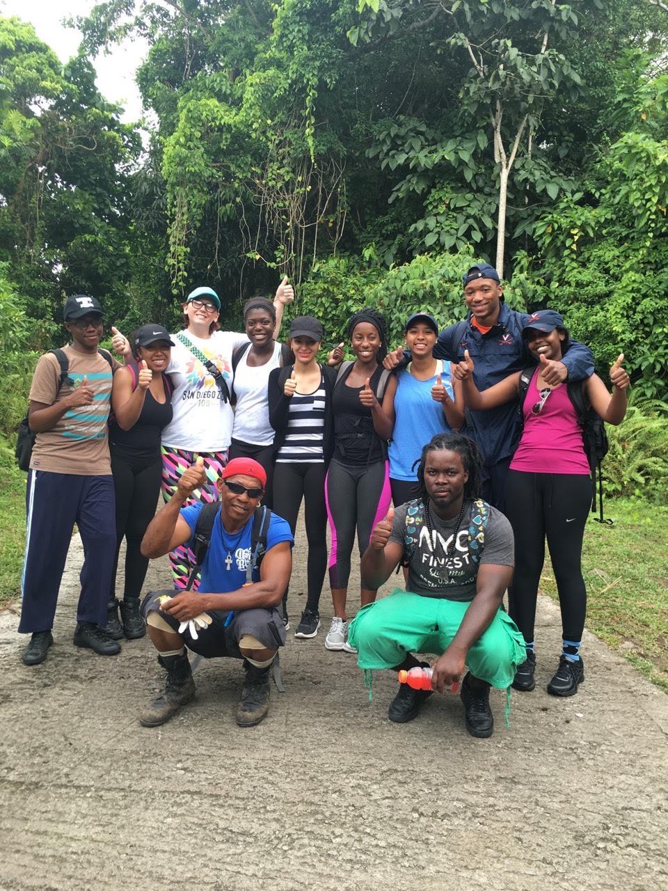 Photo Credit: 2016 CGH Scholars Maha Hassan and Deega Omar and MHIRT Scholars - Nevis Peak, Nevis