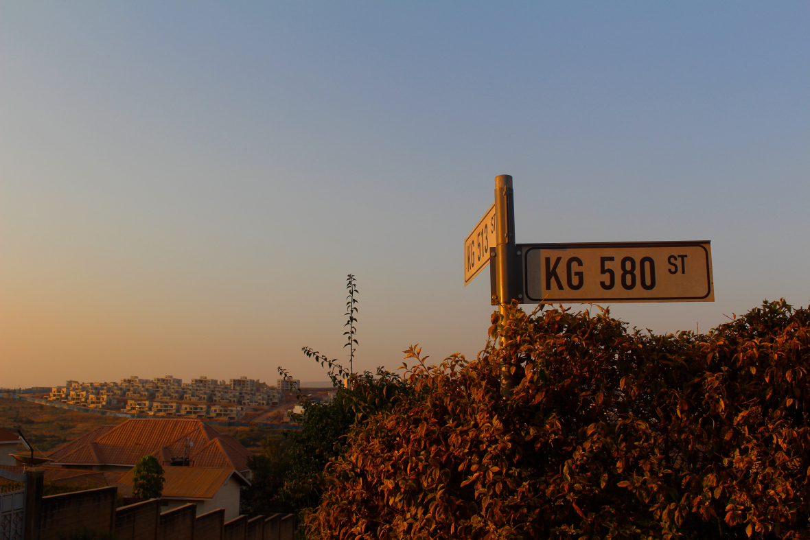 Photo Credit: 2016 CGH Scholars Alice Burgess and Emily Romano - Street Sign, Rwanda