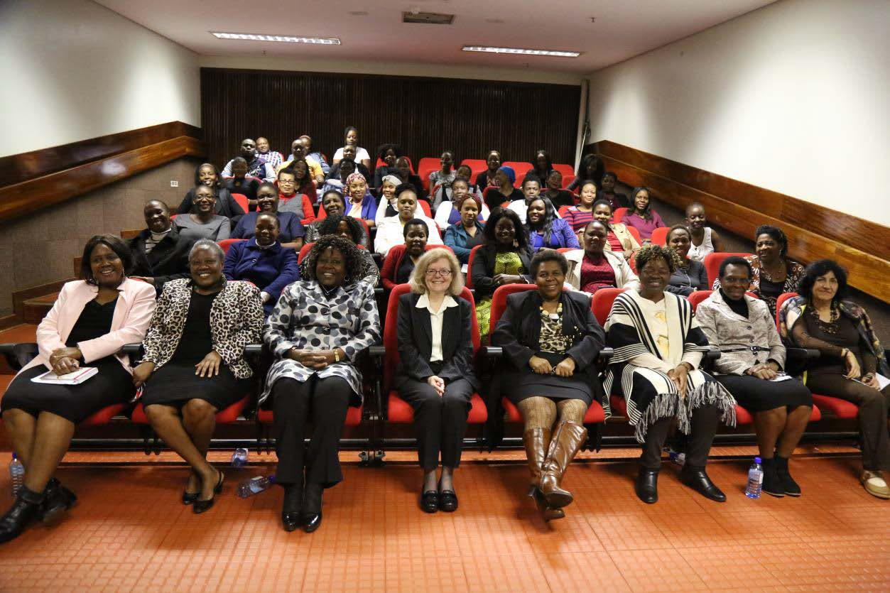 Carol Mershon, Professor of Politics, UVa, with colleagues at the University of Venda, South Africa