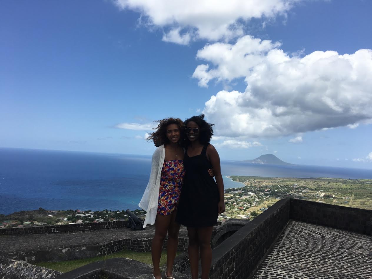 2016 Center for Global Health Scholars, Maha Hassan and Deega Omar in St. Kitts & Nevis