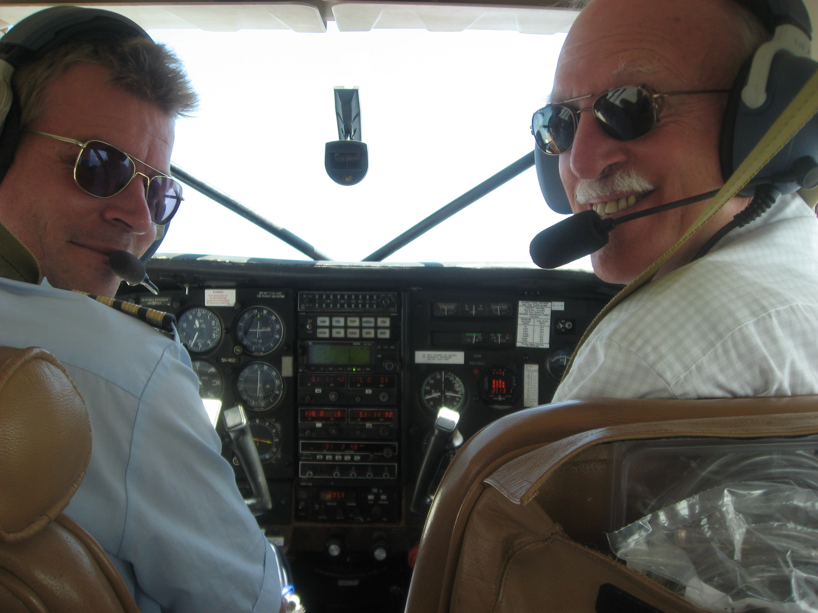 CGH Founding Director, Dr. Richard Guerrant, flying over Tanzania