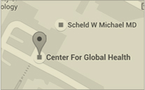 Map to Center for Global Health