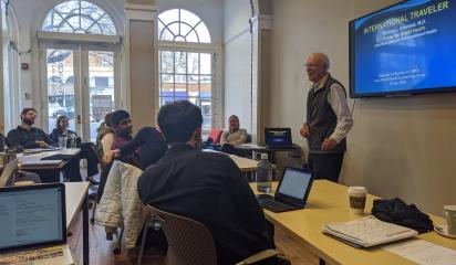 Dr. Richard Guerrant teaching the GHLT residency course