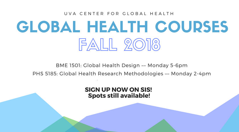 Fall 2018 Global Health Courses