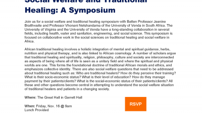 Social Welfare and Traditional Healing: A Symposium