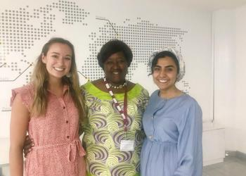 CGH Scholars at with the VC of the University of Global Health Equity in Rwanda