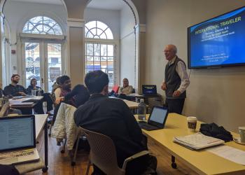 Founding Director, Dr. Richard Guerrant, with the 2020 Global Health Leadership Course