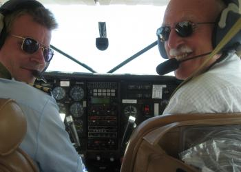 CGH Founding Director, Dr. Richard Guerrant, flying over Tanzania
