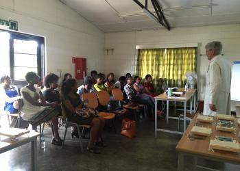 Dr. Tom Daniel, UVA Department of Surgery, teaching at CHUK, Rwanda
