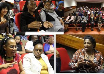 University of Venda participants in Carol Mershon lecture at the University of Venda, 2016