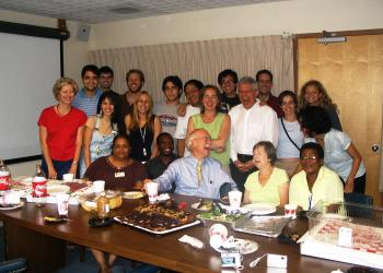 CGH Founding Director, Dr. Richard Guerrant with staff and fellows