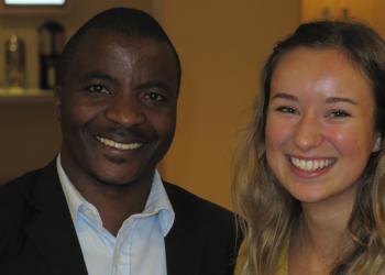 Rwanda 2019: CHUK physician and former CGH fellow, Joseph Niyitegeka and CGH Scholar, Sara Krivacsy