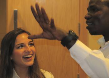 Hannah Graham Memorial AwardScholar Sonja Kapadia and CHUK clinician, Dr. Jackson Kwizera Ndekezi