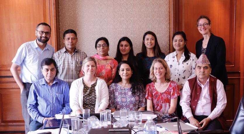 Professor Virginia LeBaron with NAPCare Partners in Nepal, 2019. Photo credit: Arati Ghising Tamang