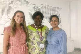 CGH Scholars with their mentor, Dr. Agnes Binagwaho, VC of the University for Global Health Equity